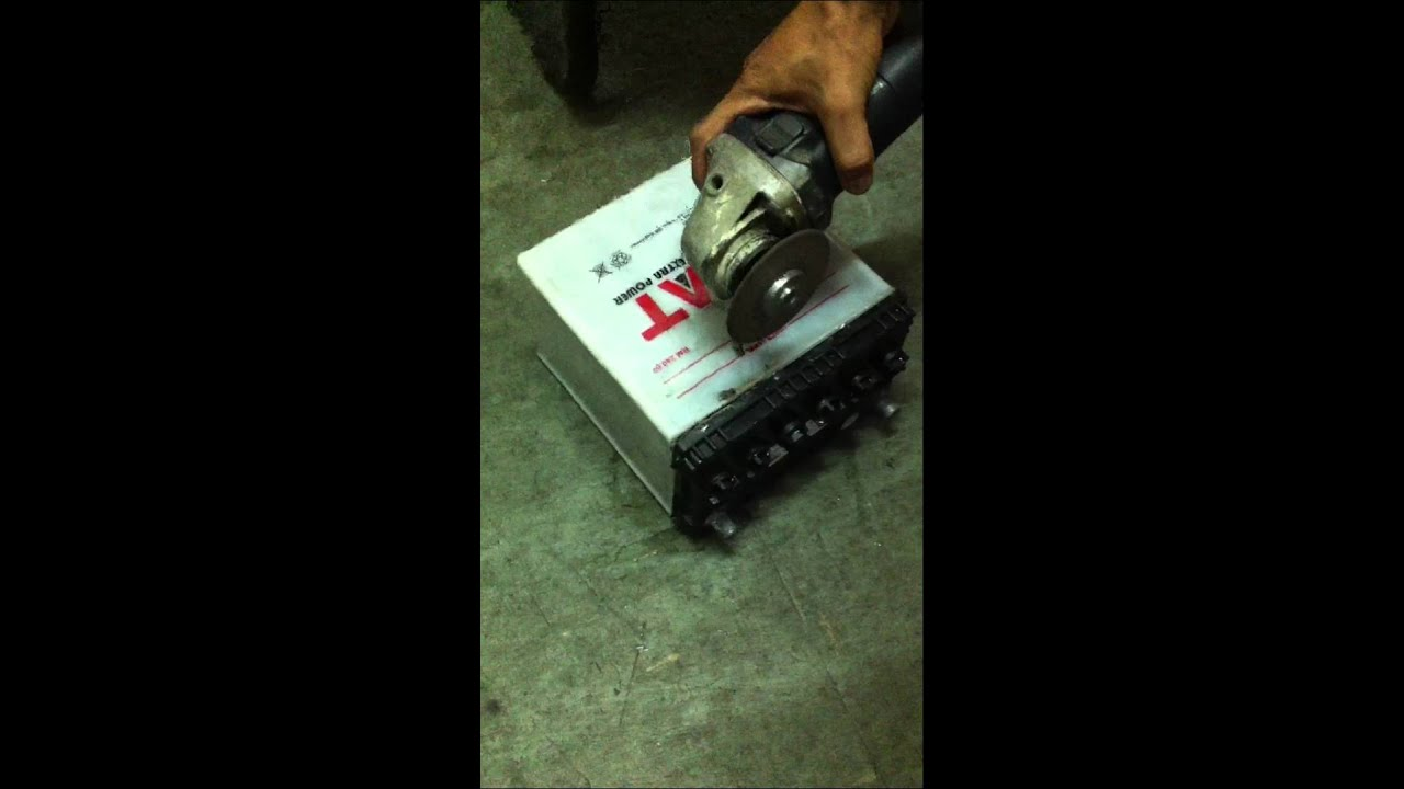 Disassemble Of Car Battery Part 1