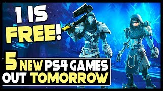 5 NEW PS4 GAMES OUT TOMORROW - 1 OF THEM IS FREE!