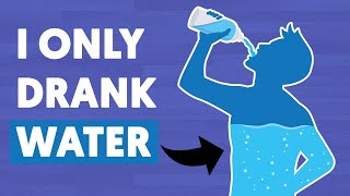 I replaced all my drinks with water and this is what happened to my body
