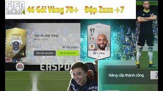 Vodka Quang   Mở gần 50 gói vàng 78+ FO4 và đập ZAZA +7 - Unpack Fifa Online 4
