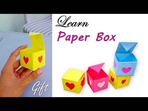 Easy paper box diy origami gift box