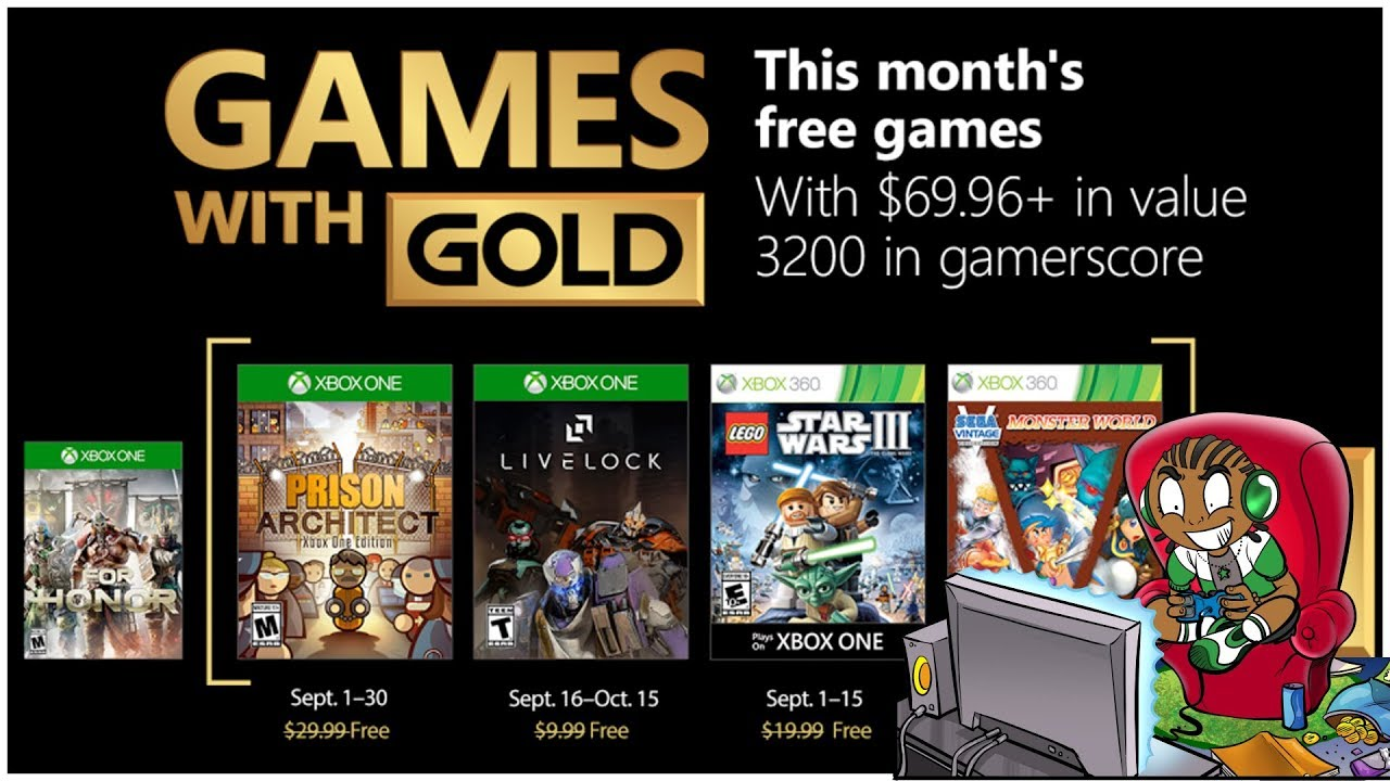 Xbox Games With Gold September 2018 Review Xbox One Free Games