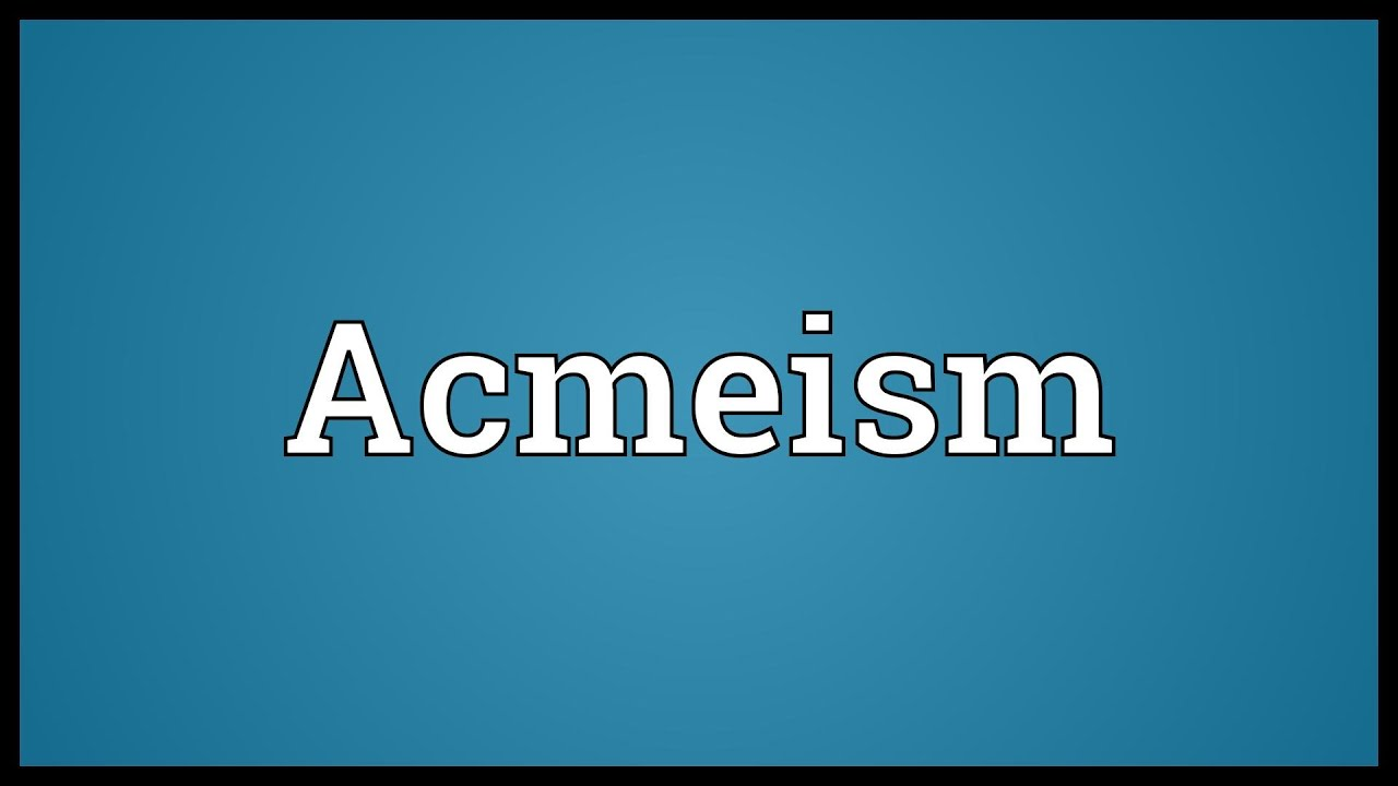 What is Acmeism 88