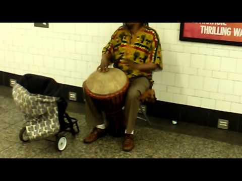 The slums project Nyc subway Drummer