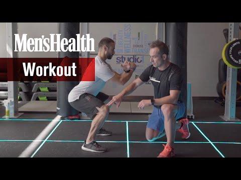 Sentadilla con salto - Entrenamiento de alta intensidad de Óscar Peiró | Men's Health España thumbnail