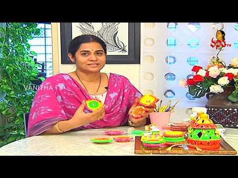 How to Decorate Colorful and Stylish Diyas at Home for Diwali? | Navya | Vanitha TV