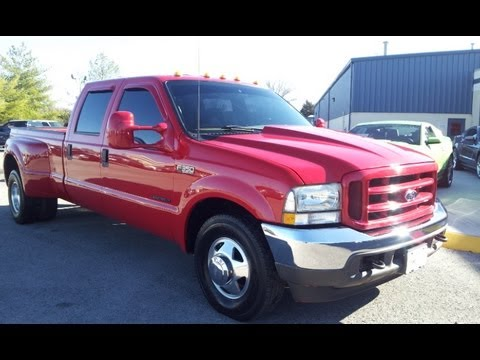 SOLD.2002 FORD F-350 CREWCAB XLT DUAL REAR WHEEL 7.3 POWERSTROKE DIESEL 4X2 1 OWNER 888-439-1265