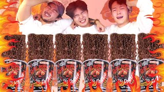 MUKBANG ASMRㅣExtreme Spicy!! Ghost Pepper Noodles Eat With Best Friend🔥Korean 후니 Hoony Eating Sound