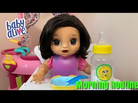 DIY Baby Baby Alive Morning Routine with Happy Hungry baby DIY Milk