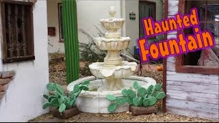 Haunted Fountain: Carved & Sculpted 3-tiered Foam Water Fountain Prop: Part One