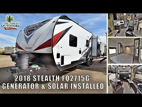 2018 FOREST RIVER STEALTH FQ2715G Toy Hauler RV Generator Solar Fuel Station Greeley Colorado Dealer