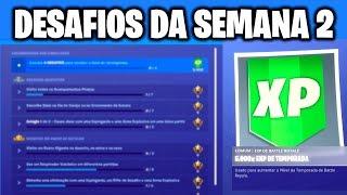 Fortnite - DESAFIOS DA SEMANA 2 VAZADOS | Temporada 8