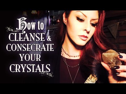 How to Cleanse, Charge & Consecrate Your Crystals ~ The White Witch Parlour