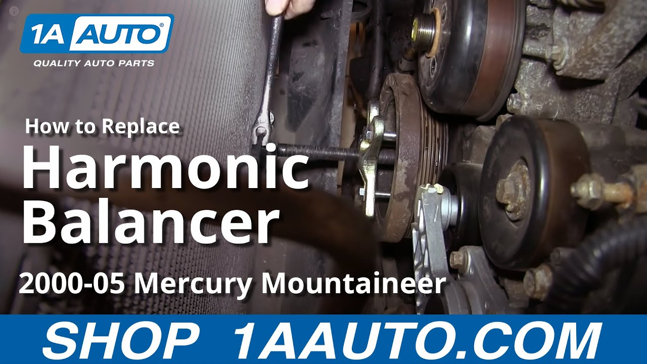 How To Install Replace Harmonic Balancer Ford Mercury 46l V8 Youtube 4 6 2001 Lincoln Town Car Engine Pully Diagram