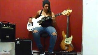 Bob Marley - Three Little Birds (Bass Cover)  Larih Silva.