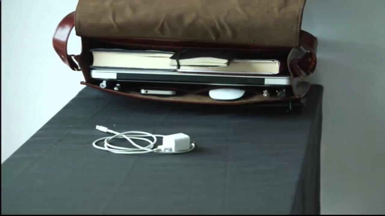 Портфель мужской кожаный. Арт. 1313 ( три отделения) - YouTube