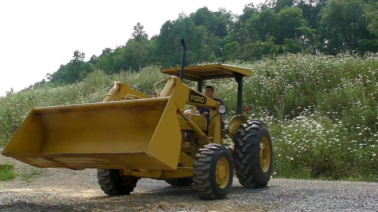 ford 545c diesel tractor loader 3pt 4x4 62hp rops machine for sale [ 1280 x 720 Pixel ]
