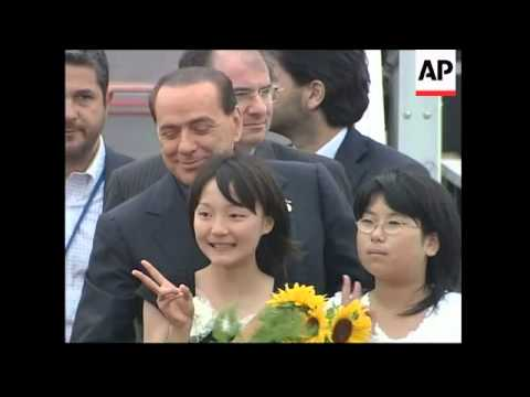Italian PM, EU president arrive for G8 Summit