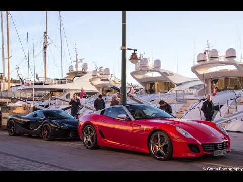 Ferrari LaFerrari & 599 Aperta in Saint-Tropez (HD)