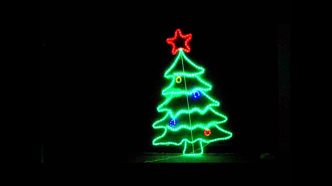 105cm Neon LED Christmas Tree Ropelight Display - YouTube