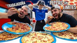 ARRUINANDO el BUFFET de DOMINO´S PIZZA (ASÍ REACCIONA la TRABAJADORA al VOLVER) *Cámara oculta*