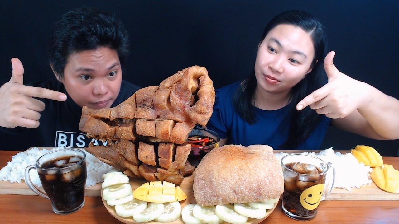 CRISPY ULO NG BABOY + PINAPUTUKANG PORK BELLY MUKBANG collab with @CHEF OBANG