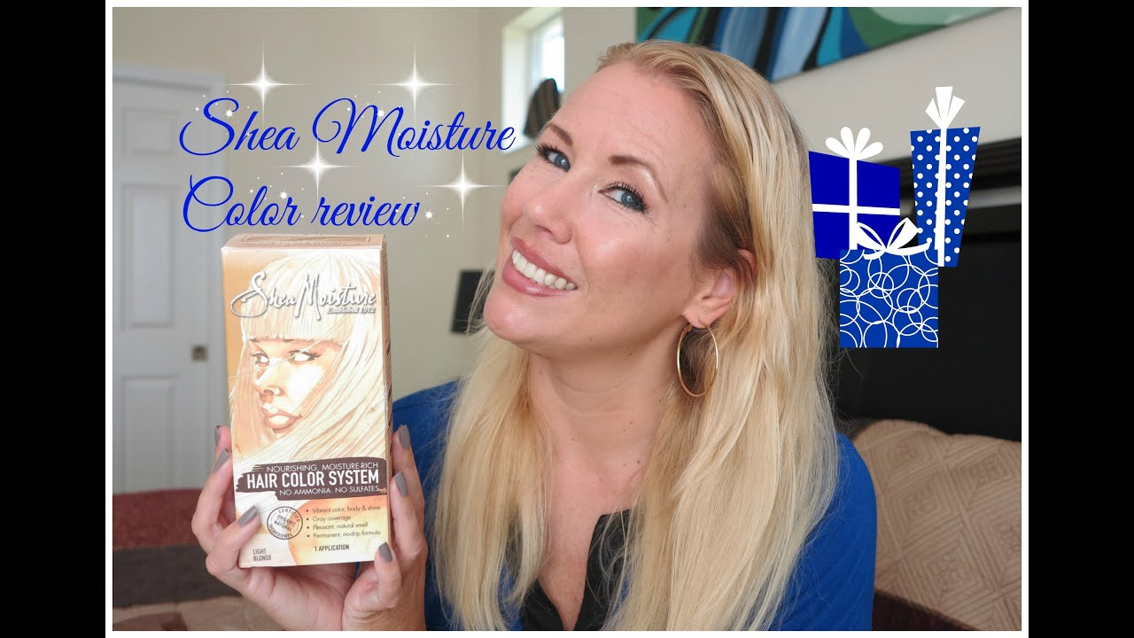 shea moisture color system review light blonde youtube