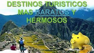 Top 10 Destinos Turísticos Más BARATOS y Hermosos para Viajar | DobleT