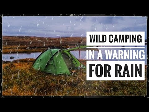 Wild camping during Storm Alex!