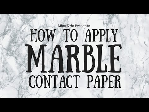 DIY: How To Apply Marble Contact Paper