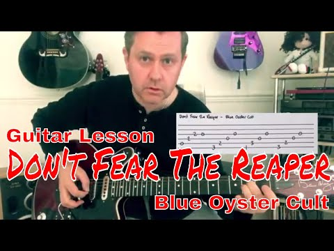 Easy Guitar Lesson - Don't Fear the Reaper- Blue Oyster Cult (Guitar Tab)