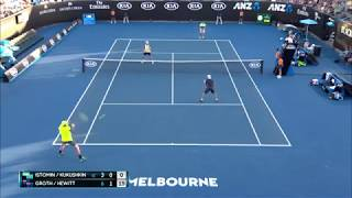 Лучший мяч парного тенниса 4-го дня АО2018