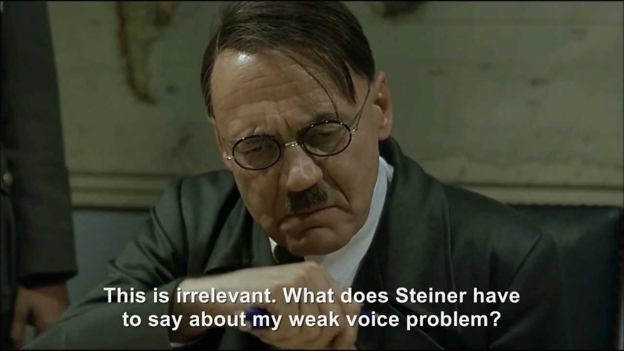 Hitler's weak voiced rant