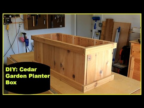 diy cedar garden planter box youtube