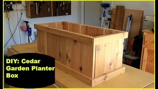 Diy: Cedar Garden Planter Box