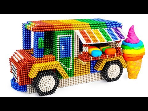 DIY - How To Build Ice Cream Truck With Magnetic Balls (Satisfaction) - Magnet Balls