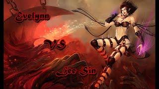 【LOL S7】積分對戰-伊芙琳VS李星 Rank S7-Evelynn VS Lee Sin