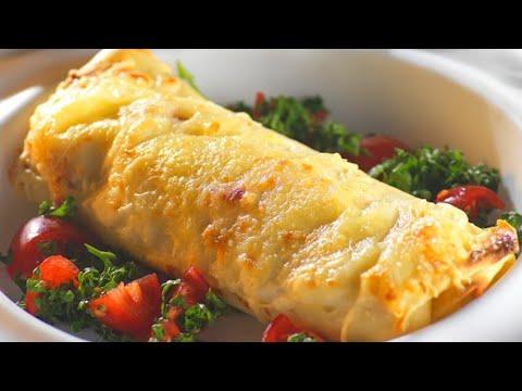 Recette francaise crepe au fromage jambon champignon