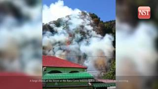 Helicopter may be used to help fight fire at Batu Caves