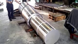 """Trepanning 21"""" Diameter Hole in Aluminum"""