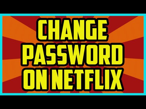 HOW TO CHANGE YOUR NETFLIX PASSWORD 2017  Netflix Password Change Computer Tutorial