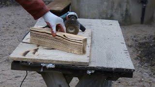 Стол своими руками | Браширование дерева | Как сделать обеденный стол часть 1