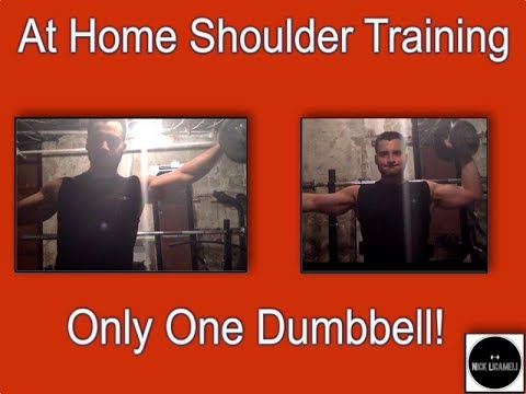 At Home Shoulder Training with Only One Dumbbell!