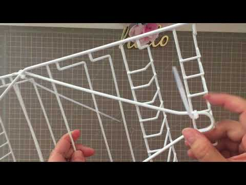 New Dollar Tree DIY Craft Organizer Using Shower Caddies for Vinyl or Giftwrapping Paper Rolls