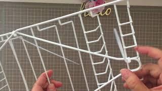 New Dollar Tree DIY Craft Organizer Using Shower Caddies for Vinyl or Giftwrapping Paper Rolls