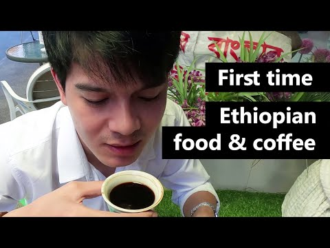2020 Having Ethiopian Food and Ethiopian coffee for the First time l Vlog l NutNut