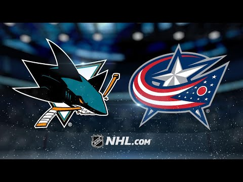 Couture, Labanc lead Sharks past Blue Jackets, 3-1