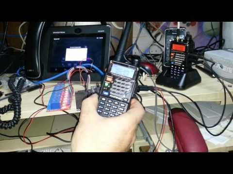 Radio Baofeng collegata a centralino e telefono asterisk pbx