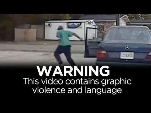 WARNING: Graphic violence - real-time events of Walter Scott shooting | ABC News