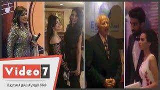 هانى شاكر وكارمن سليمان ونادية مصطفى وبشرى فى حفل توزيع جوائز الميما